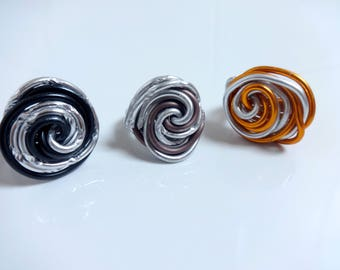 Classic thick - colors to choose from - aluminium ring - handmade