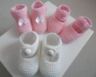 Birthday gift 3 pairs of booties is handmade