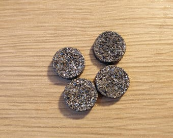 cabochon 12 mm colour grey stone effect