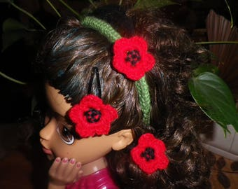 "Hair accessories set ""poppy"" for girl"