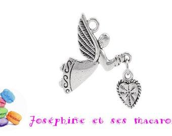 1 heart 25 x 22 mm Angel charm