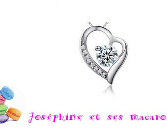 1 925 sterling silver heart pendant