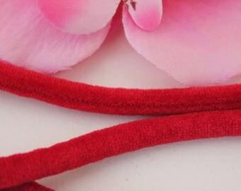 5 m cord 5mm red velvet