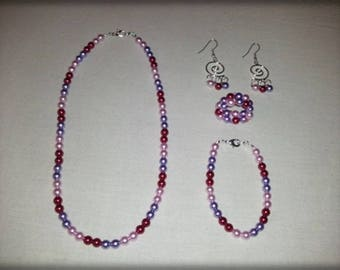 Pearly beads parure