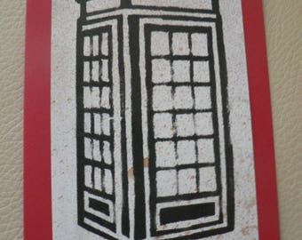 London telephone booth scrapbooking card