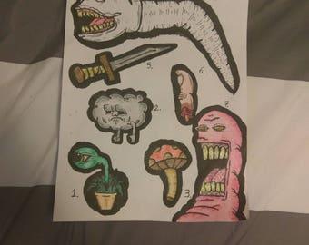 Goofy Stickers Series 1