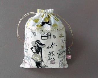 Fabric storage pouch