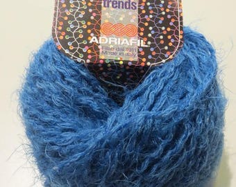 Wool with transparent sequins, Nina of Adriafil, blue or purple, 50 grams 80 meters, 60% wool