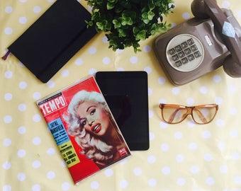 MAGAZINE BAG case cover for iPad mini or purses as clutches. Mini bag like as vintage magazine.