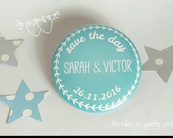 Save the date! magnet customize 56mm round