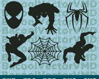 Spiderman SVG Pack - Spiderman Clipart - Spiderman Cut Files - SVG Files For Silhouette - Files For Cricut - Cuttable design - Spiderman