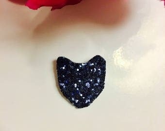Brooch Fox head sequins