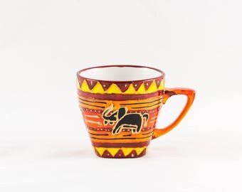 20 cl porcelain elephant pattern hand painted coffee mug