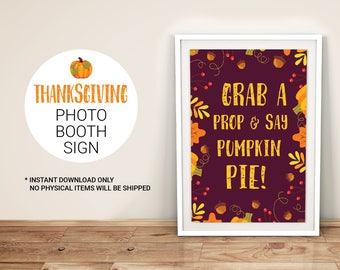 Thanksgiving Photo Booth Sign