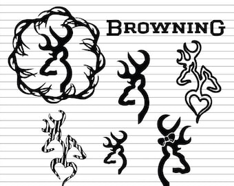 Browning SVG Bundle, Browning Logo SVG , Browning clipart, deer svg, hunting svg, svg files for silhouette, cut files, cricut, vector, dxf