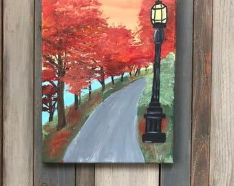 Fall Sunset Acrylic Painting