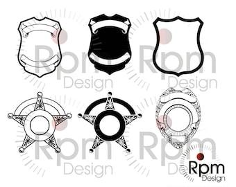 Police Badges SVG file, Police SVG File, Police eps, Police, Badge, Sheriff, Sheriff Star, Star, Bundle, Vector, Digital, EPS file, cricut