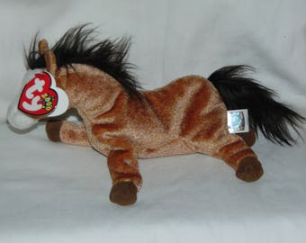 Ty Beanie Baby Oats - MWT (Horse 2000)- Retired Collectible Toy