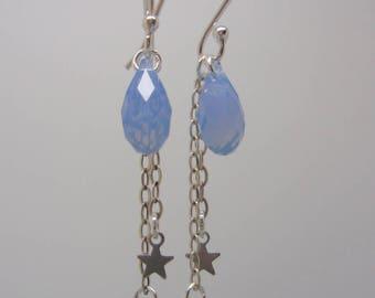 """Ophelia"" blue opal earrings"