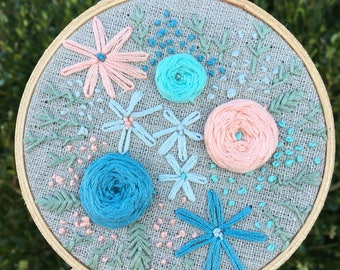 Floral Embroidery Hoop A