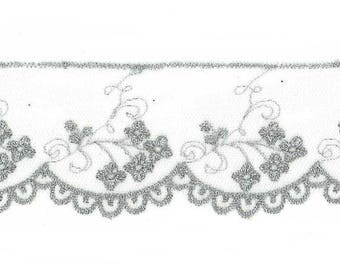 Silver Tulle lace