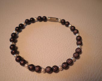 01815 - Hard wire bracelet bead magic black and silver