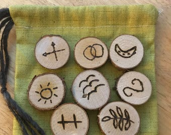 Birch Witch Runes and Pouch