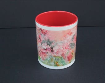 Mug dream - ceramic from my watercolor flowers