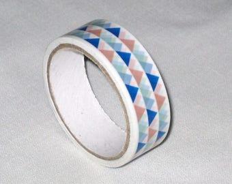 "Ribbon tape/masking tape ""triangle"" of 1.5 cm (5 m)"
