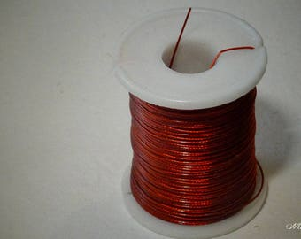 1 meter - 0.45 mm jewelry wire. Red