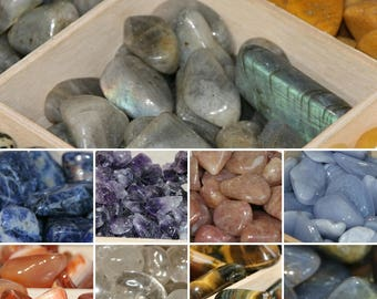 Polished Crystal Tumble stones 15 -25mm from 50p!!