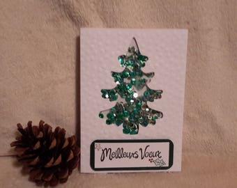 Shaker made Christmas card hand