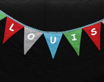 Personalized flags Garland to the child's name
