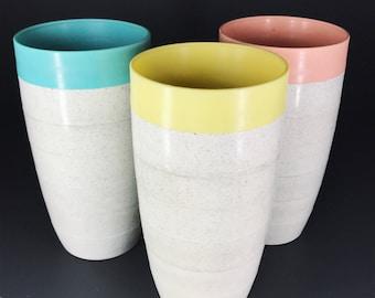 3 pc 1950's Plastic Tumblers