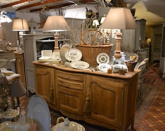 Raw Louis XV French Provence decapé arched buffet