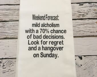 Tea Towel- Weekend Forecast