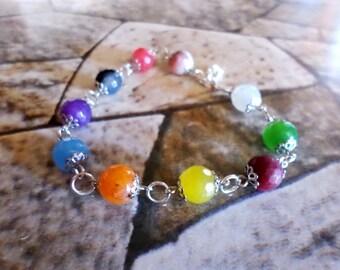 karma Chakra bracelets women pearls precious stones
