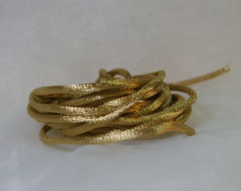 Gold 2.5 mm rat tail cord 2 m