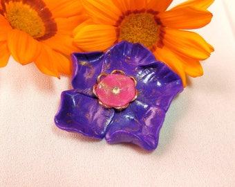 Large flower cabochon * precious purple *.