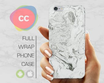 iPhone 8 Case - White Marble Phone Case - iPhone 7 Case - iPhone 6 Case - iPhone 5 Case - iPhone X Case - Samsung S6 Case - PC-306