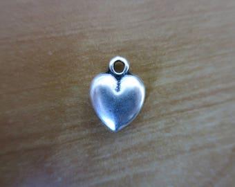Silver heart charm