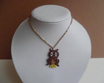 Necklace little girl OWL pendant / OWL