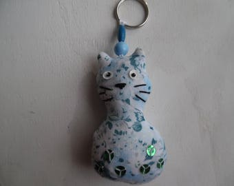 entire fabric cat key ring