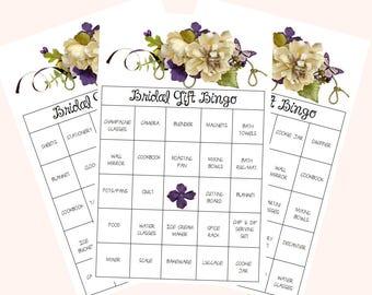 Bridal Bingo; Bridal Shower Bingo; Pre-filled Bingo Cards; Bridal Games; Wedding Shower Bingo;  Wedding Shower Games; Printable Bingo Game
