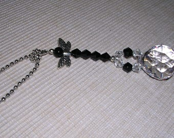 Black Dragonfly Rear View Mirror Charm