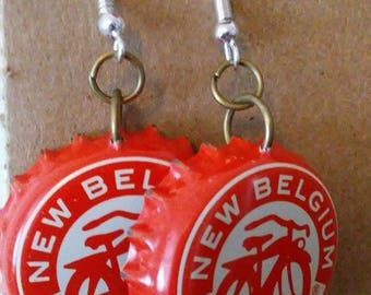 New Belgium Bottlecap Earrings
