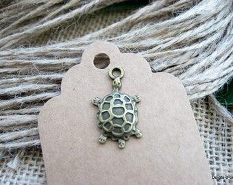 breloque bijoux charm tortue bronze