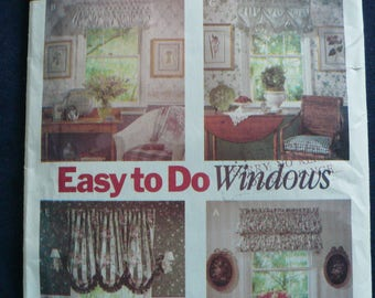 Sewing Pattern for Window Coverings or Curtains - Vintage Butterick 6032