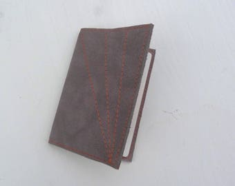 Passport in suede and wire ogange
