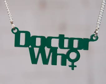 New Doctor Who laser cut necklace